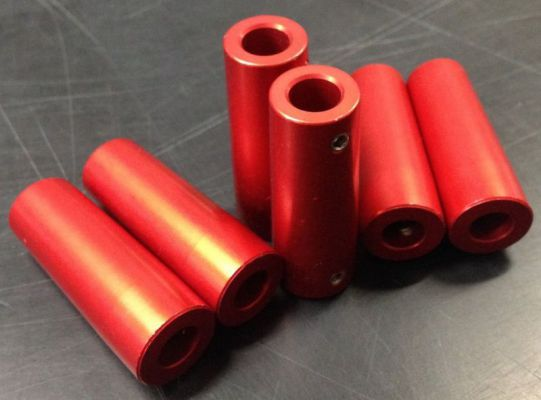 Grip red aluminium 16x44 mm